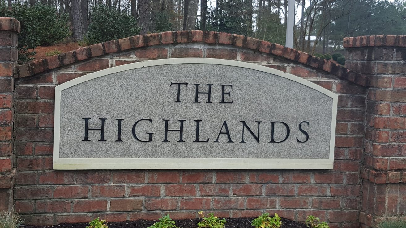 Highlands Sign